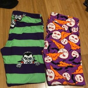 2 pair of LuLaRoe vintage Halloween leggings TC